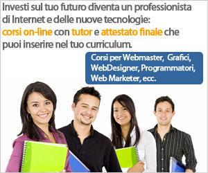 Corsi per Webmaster e Web Designer